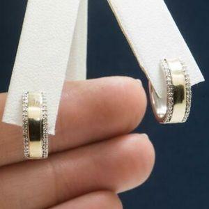 GENUINE DIAMOND HOOP EARRINGS